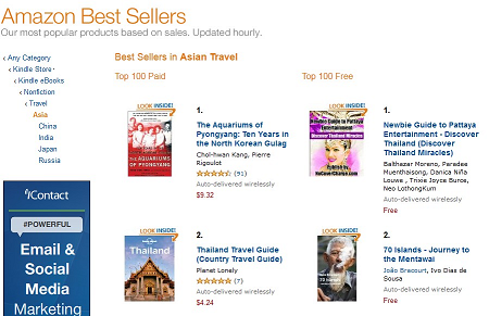 Best seller in Asia Travel Amazon